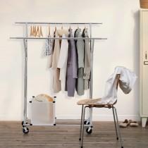 Doppelkleiderständer mit zwei Kleiderstange, Rollgarderobe