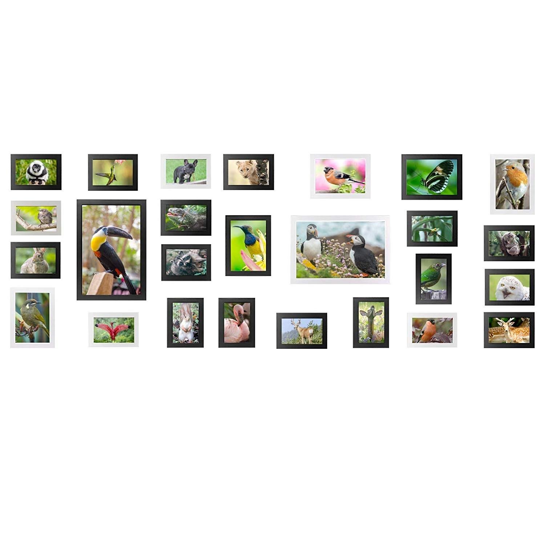 Yorbay Bilderrahmen 26er Set Fotorahmen mit Bildabdeckung aus ...
