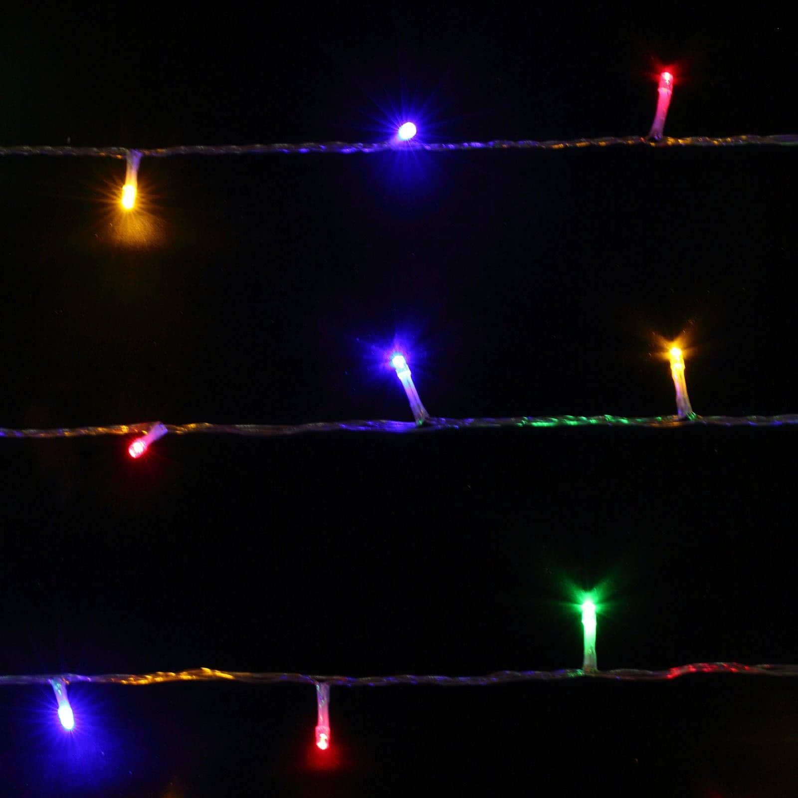 Weihnachtsbeleuchtung Bunt.400er Led Lichterkette Rgb Yorbay De