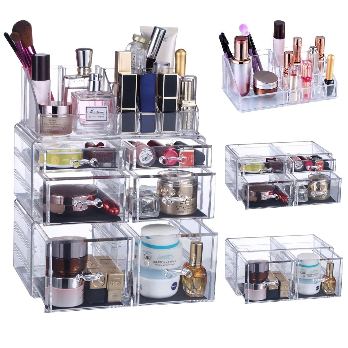 seelux acryl kosmetik make up aufbewahrung organizer mit schubladen und abteile. Black Bedroom Furniture Sets. Home Design Ideas