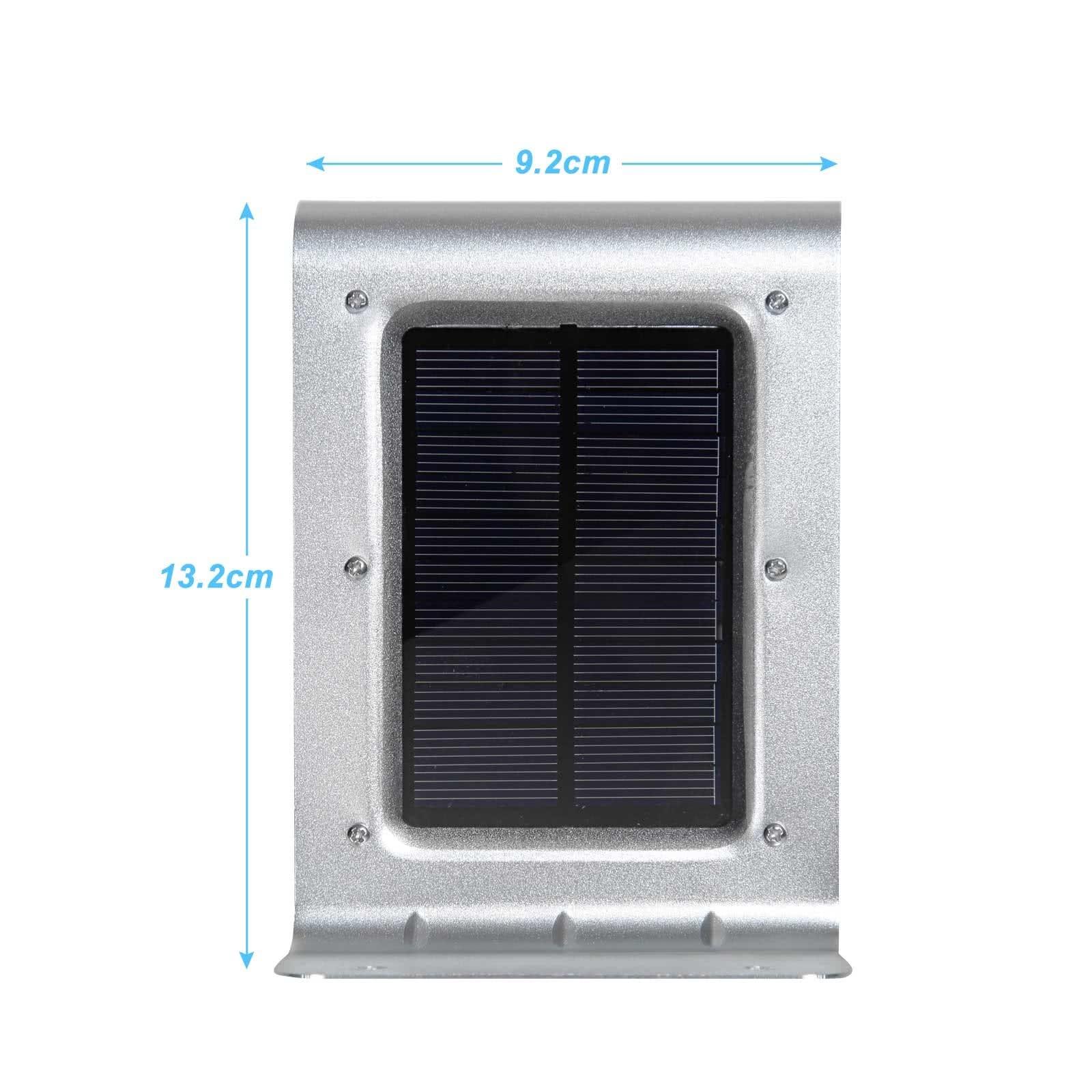 led solar wandleuchte sensor mit bewegungsmelder solarlampe wandleuchte au en licht. Black Bedroom Furniture Sets. Home Design Ideas