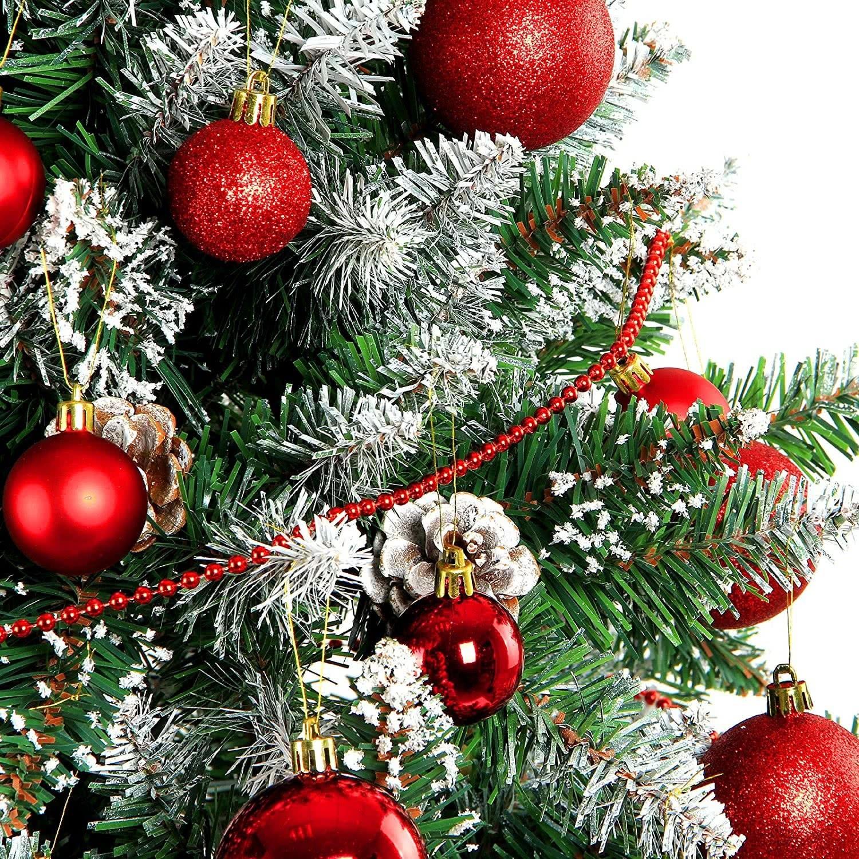 weihnachtskugeln christbaumkugeln set inklusive perlenkette und baumspitze. Black Bedroom Furniture Sets. Home Design Ideas