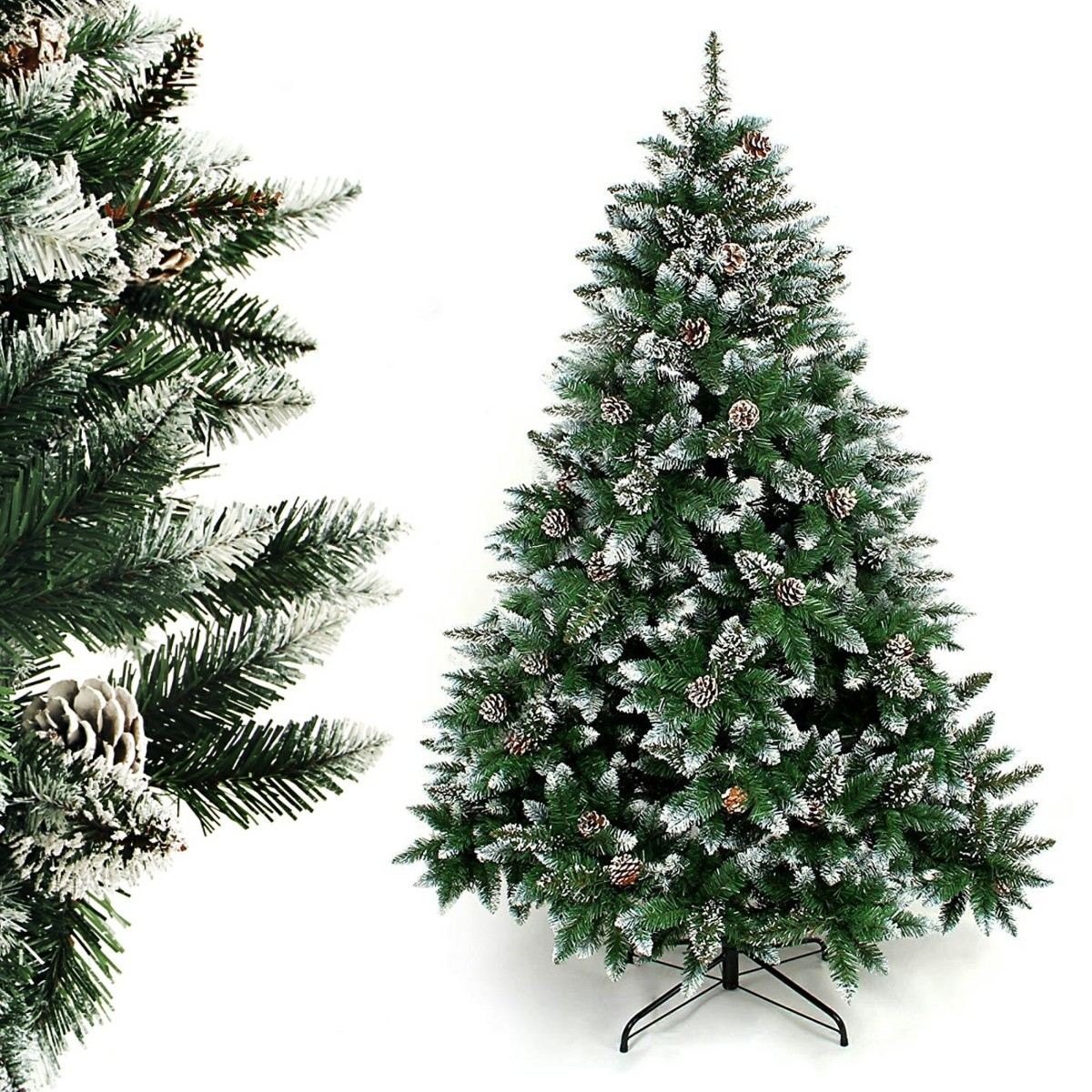 yorbay weihnachtsbaum künstlicher tannenbaum 120cm  210cm