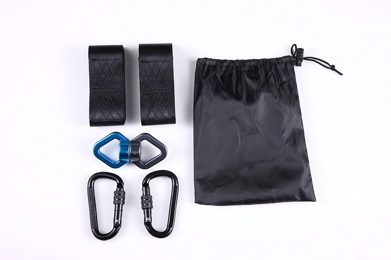 yorbay befestigungs set aufh ngeset f r h ngematte schaukel hanging gurt kit schwarz. Black Bedroom Furniture Sets. Home Design Ideas