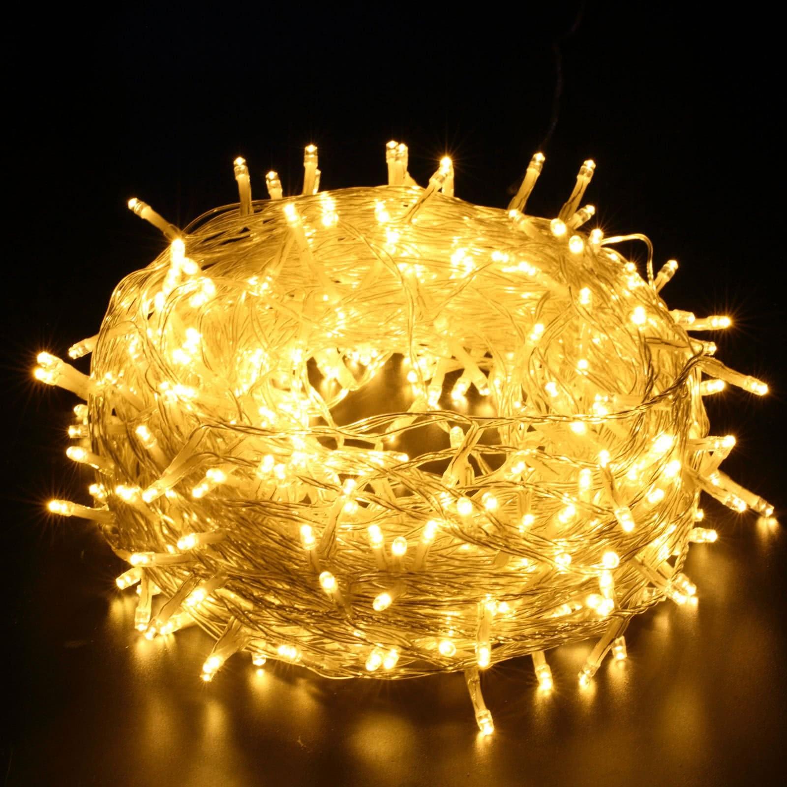 Led Weihnachtsbeleuchtung Warmweiss.400er Led Lichterkette Warmweiß Yorbay De