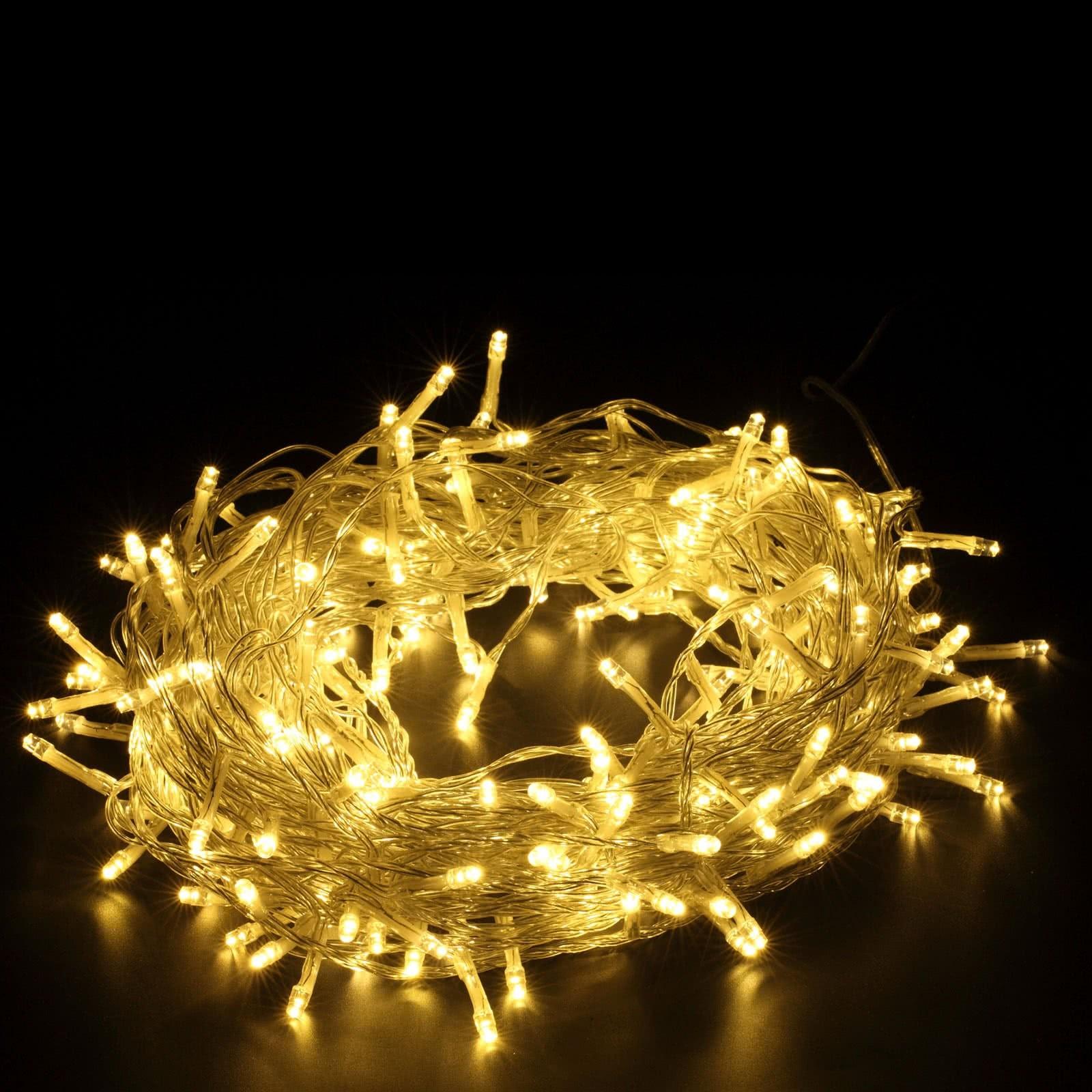 Led Weihnachtsbeleuchtung Warmweiss.200er Led Lichterkette Warmweiß Yorbay De
