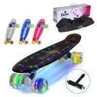 "22"" LED Skateboard Retro Board Pennyboard Mini Cruiser"