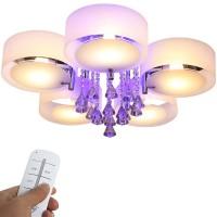 5 Fl. -LED Kristall Deckenleuchte Deckenlampe Hängeleuchte