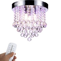 LED Kristall Deckenleuchte Kronleuchter mit RBP Licht, G9 LED Lampe, mit Fernbedienung