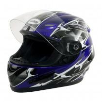 Motorradhelm blau M-1