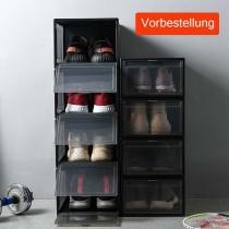 Yorbay Drop-Front-Boxen, Schuhbox aus Kunststoff 3er Set für Sneaker Aufbewahrung, stapelbarer Aufbewahrungsboxen*(Vorbestellung, lieferbar um 27.08.2020)