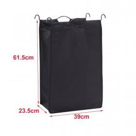 1 Set Waschsack 600 D für Wäschekorb,1x schwarz und 1x grau