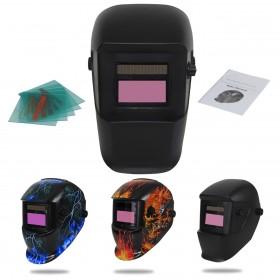 Solar Automatisch verdunkelnd Schweißhelm Schweißmaske mit 5 Stück Ersatzgläser, Schleif-Funktion