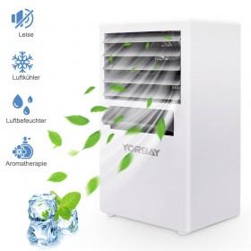 4in1 Mini Luftkühler, mobiles Klimagerät 3 Geschwindigkeitsstufen für Zuhause Büro