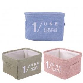 Aufbewahrungskorb aus Leinen in drei Grösse und drei Farbe, 3er in Set