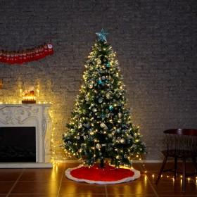 Weihnachtsbaum-Unterlage Rot Rund, Christbaumunterlage ca. 120 cm Weihnachtsbaum Decke