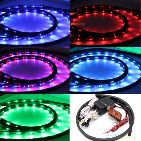 4x LED RGB Unterboden Beleuchtung 252 SMDS Strip Set