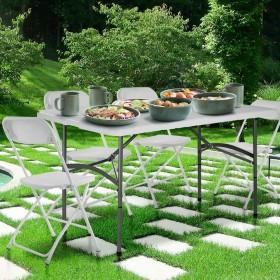 Klapptisch Gartentisch Balkontisch, Tisch für Grillparties im Garten, am Strand, auf Reisen, beim Camping oder Picknick