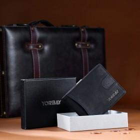 2 in 1 leder Herren Geldbörse, Geldbeutel mit Geldklammer und RFID Schutz Portemonnaie Kreditkartenhalter