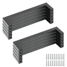 10 Stück Möbelgriff Schrankgriff Küchengriff aus Edelstahl 128mm in schwarz / silber,  Ø 10 mm, Ø 15 mm