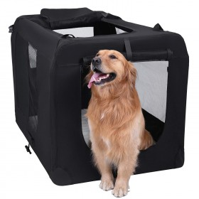 Hundebox Transportbox faltbar Oxford Gewebe S-XXXL in schwarz