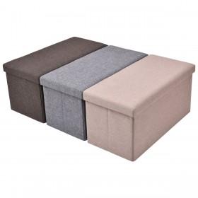 Sitzhocker mit Stauraum faltbar Farbwahl 76x38x38cm