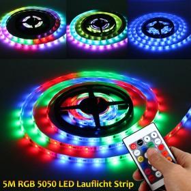 5m LED RGB Lauflicht Strip wasserdicht