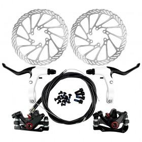 G3 Fahrrad Scheibenbremse MTB Set in schwarz