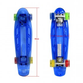 "22"" LED Skateboard -Blaues Deck"
