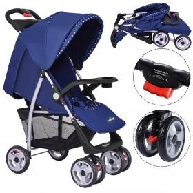 Kinderwagen Babywagen klappbar( Grau/ Blau)