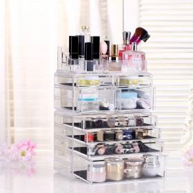 Acryl Kosmetik Make up Aufbewahrung Organizer mit Schubladen und Abteile Groß