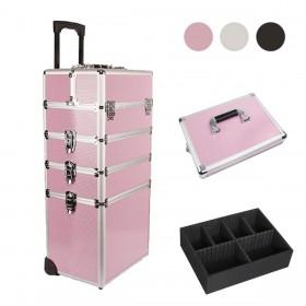 Alu Kosmetikkoffer Schminkkoffer Beauty Case Set, mit Deckel und Innenkasten