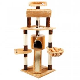 Yorbay Katzenbaum XL Kratzbaum mit Liegeplatz Katzenhöhle Hängematte Spielsisal