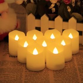 Yorbay 9 x LED Kerzen flammenlose Teelichter Warmweiß mit Fernbedienung und Timerfunktion