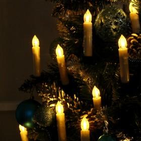 30er Set Weihnachtskerzen wasserdicht kabellose Warmweiß LED Kerzen, dimmbar mit Fernbedienung, Adventskerzen