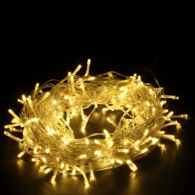 200er LED Lichterkette Warmweiß, Deko für Hochzeit, Party, Weihnachten, Weihnachtsbeleuchtung
