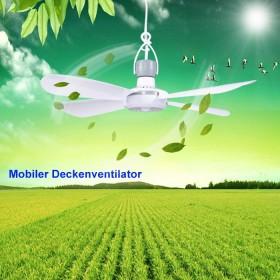 Mobiler Deckenventilator Ø40cm mit Aufhänger und Schalter