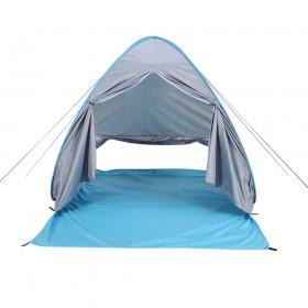 Strandmuschel mit Reißverschlusstür und UV-Schutz für Urlaub, Camping, Wandern