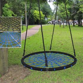 Ø100cm Nestschaukel Rundschaukel Tellerschaukel, 200kg Belastung für Kinder und Erwachsenen