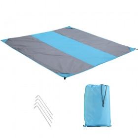 Picknickdecke 200 x 200 cm Stranddecke Wasserdichte mit Tragetasche und Heringen