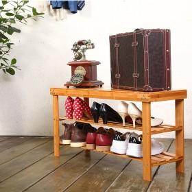 Schuhregal Schuhbank aus Bambus mit 3 Ablage