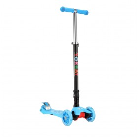 Klappbar Kinder Scooter Roller mit LED Rollen(Blau)