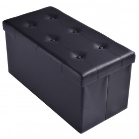 Sitzhocker aus PVC-Leder Farbwahl 76 x 38 x 38cm