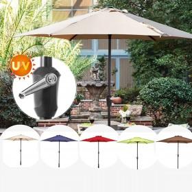 Ø  270 cm Sonnenschirm, höhenverstellbarer Ampelschirm, Gartenschirm rund UV-Schutz farbig *(ohne Ständer)
