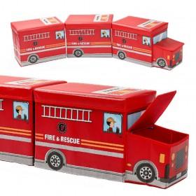 3er Set Kinder Aufbewahrungsbox Spielzeugkiste mit Deckel, Sitzbank mit Stauraum für Kinderzimmer, pink, rot