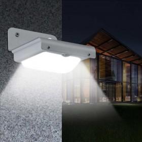 LED Solar Wandleuchte Sensor mit Bewegungsmelder Solarlampe Wandleuchte Außen Licht