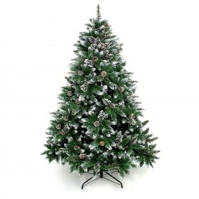 150cm Weihnachtsbaum Tannenbaum für Weihnachten-Dekoration mit Schnee