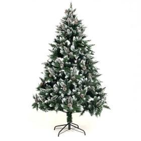 210cm Weihnachtsbaum Tannenbaum für Weihnachten-Dekoration mit Schnee