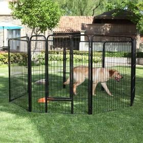XXL 8-tlg Welpenauslauf für Hunde Kaninchen kleine Haustiere Farben auswählbar