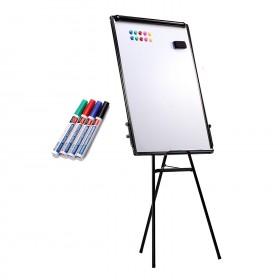 70 x 100cm Flipchart dreibein Whiteboard stufenlos höhenverstellbar BASIC Triangle